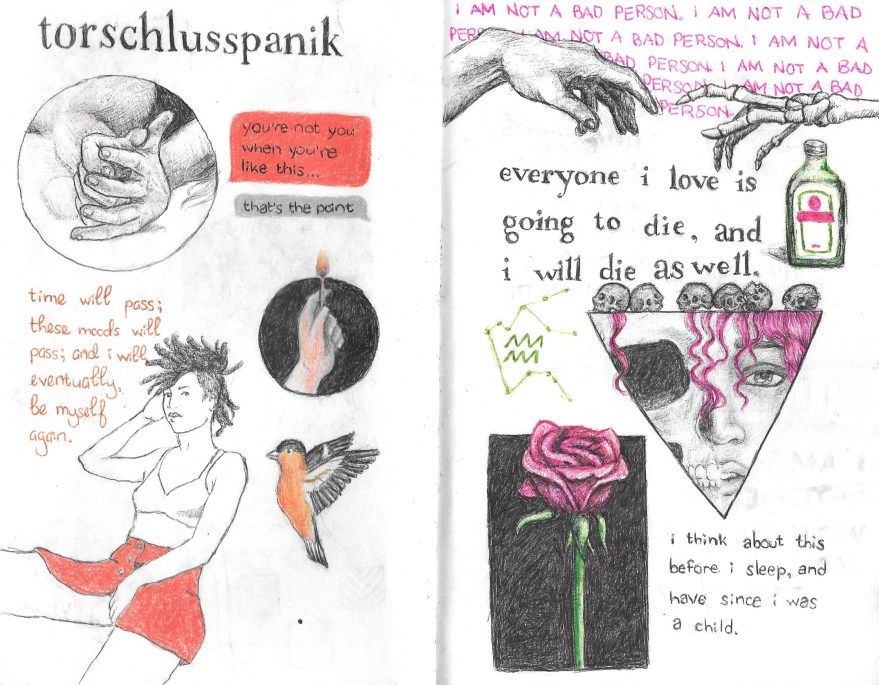 Art journal spread by Morgan Hess